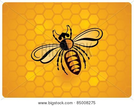 Bee, schematic illustration.