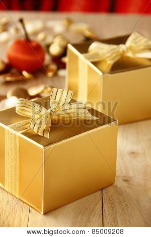 Elegance Gift Boxes are on White Background.