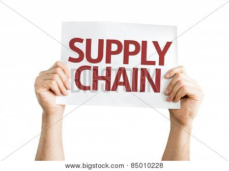 Supply Chain card isolated on white background
