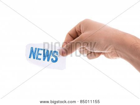 News piece of paper isolated on white background