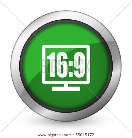 16 9 display green icon
