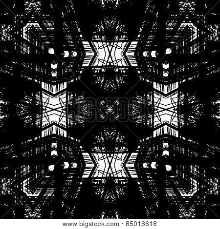 art sketched naive ornamental black pattern isolated on white background, s.5