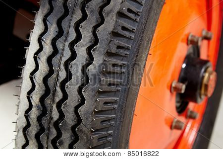 Vintage old tyre