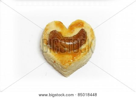 Heart shape cookies.