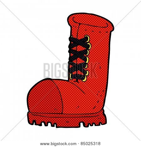 retro comic book style cartoon old work boot