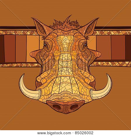 Decorative Warthog Head