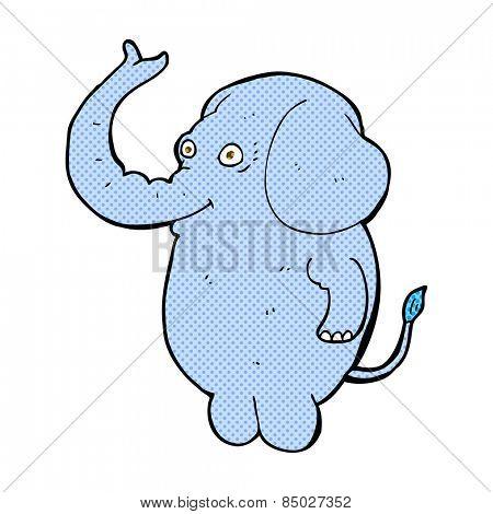 retro comic book style cartoon funny elephant