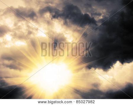 Light Through Dramatic Sky
