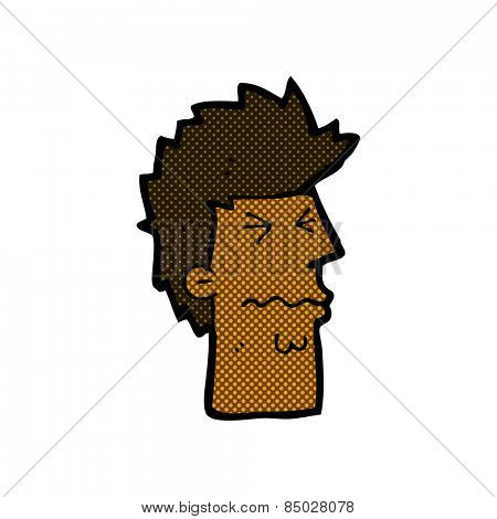 retro comic book style cartoon stressed out face