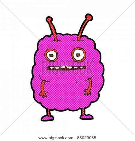 retro comic book style cartoon funny alien monster