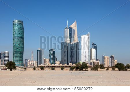 Skyscrapers Downtown In Kuwait City