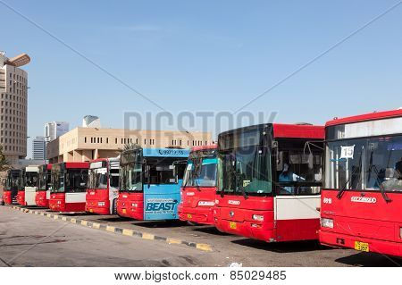 Main Bus Station In Kuwait City