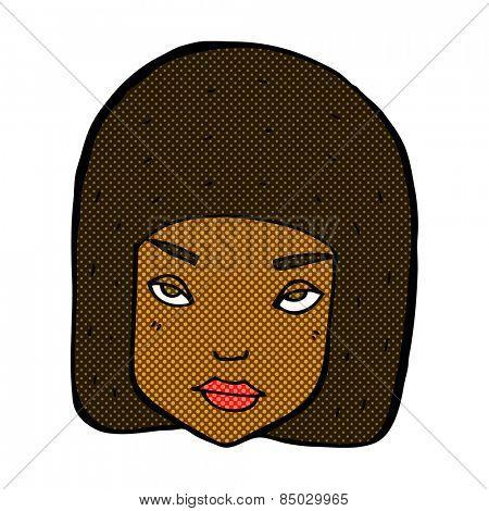 retro comic book style cartoon annoyed female face