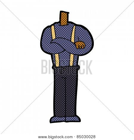 retro comic book style cartoon body with folded arms (mix and match retro comic book style cartoons or add own photos)