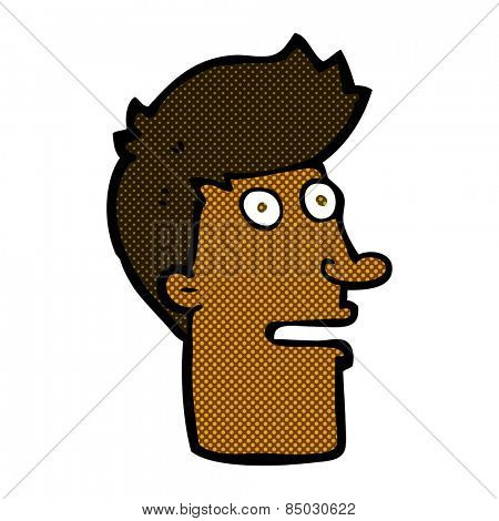 retro comic book style cartoon shocked male face