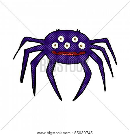 retro comic book style cartoon halloween spider