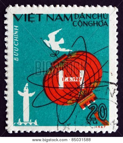 Postage Stamp Vietnam 1967 Chinese Lantern