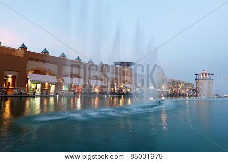 Fountain In The Al Kout Mall, Kuwait