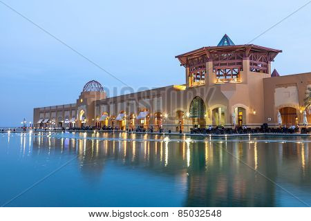 Al Kout Mall At Dusk, Kuwait