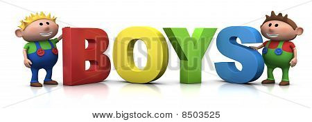 Boys With B-o-y-s Letters