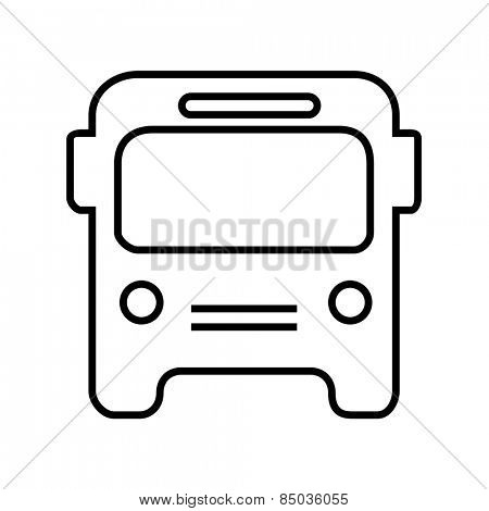 Bus icon outline