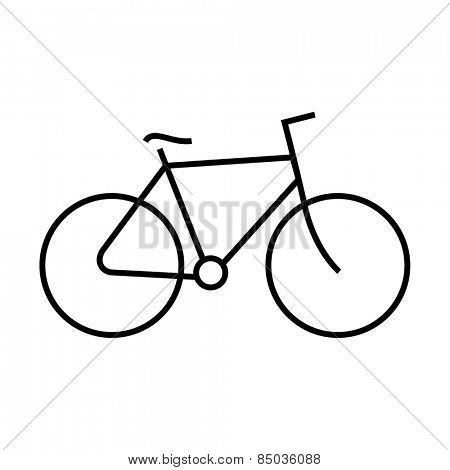 Bicycle icon outline