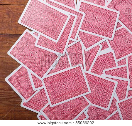 play cards back texture