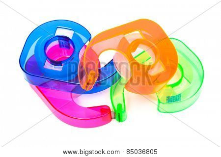 adhesive tape on a white background