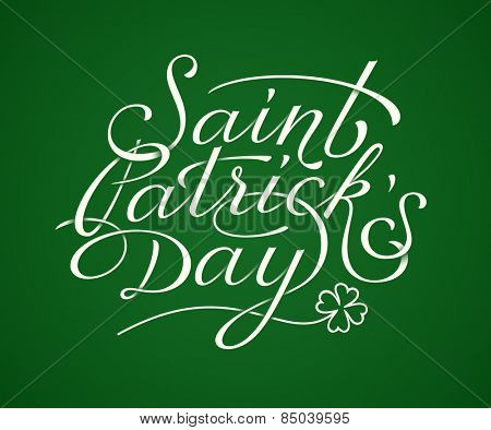 Saint Patricks Day lettering. Vector illustration