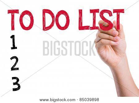 To Do List written on the wipe board