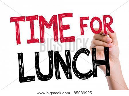 Time For Lunch written on the wipe board
