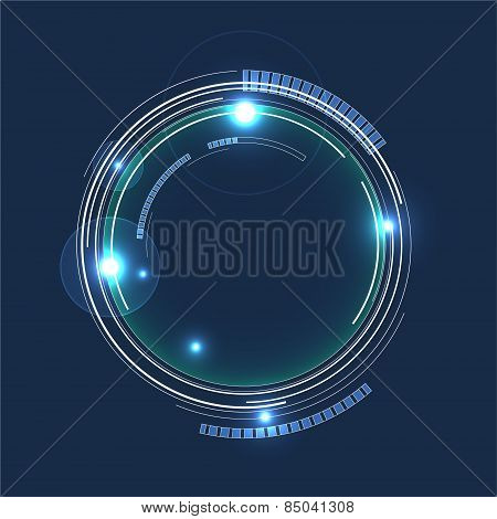 Futuristic Abstract Circles Background. Stock Vector Illustration