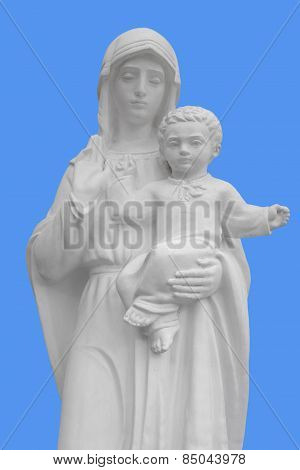 Mother Of God With Baby Statue