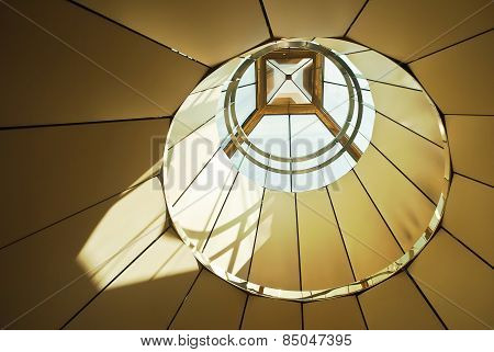 Framework Of Roof With Skylights, Construction And Modern Architecture Design.