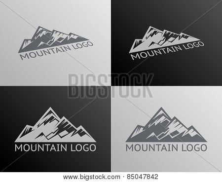 Mountain Logo Symbol Icon Isolated Vector Illustration