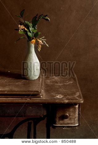 Still-life with yellow flowers