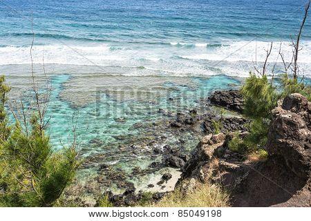 Ocean along Punalau coast, Maui