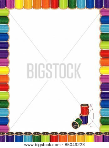 Sewing Needle And Threads Poster Letterhead Frame