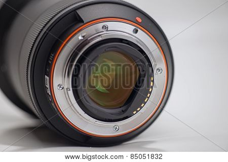 Closeup Of Camera Lens Contacts