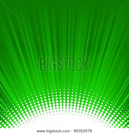 Shine green background with halftone bottom