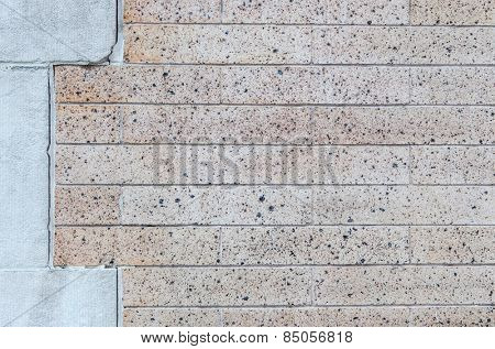 Brick wall background texture. Plenty of copy space