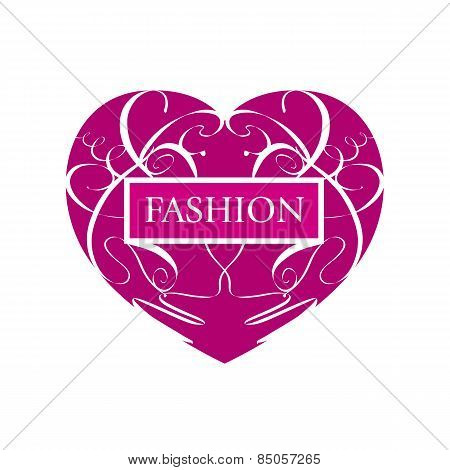 Vector Icon Fashionable Heart Of Patterns