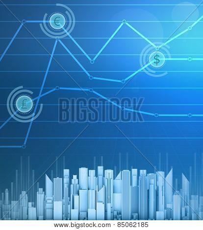 Abstract charts finance symbol