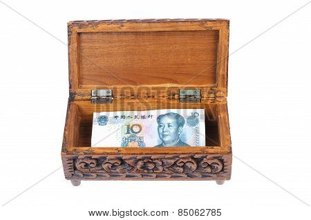 Banknote In Wood Box