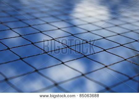 net and blue sky