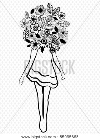 girl flowers fashion icon