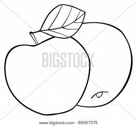 Delightful Garden - Set Of Two Round Apples With A Leaf