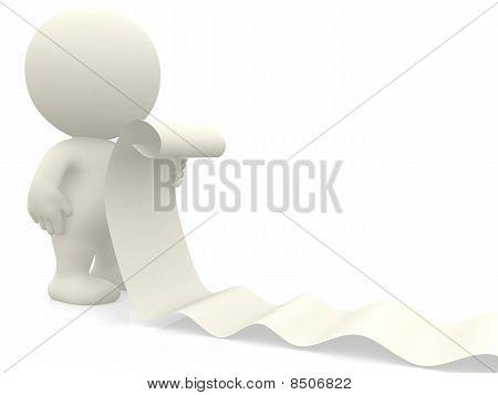 3D Man Reading List-bill