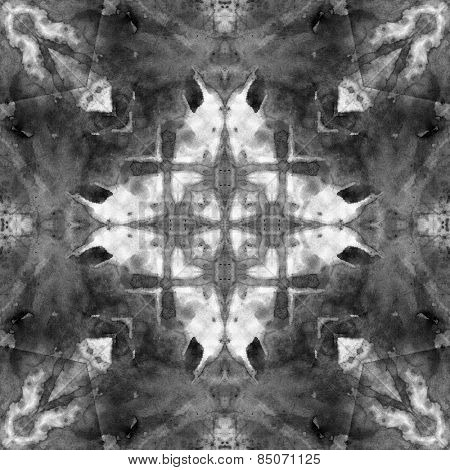 art nouveau ornamental vintage  pattern, S.10, monochrome watercolor background in white, grey and black colors