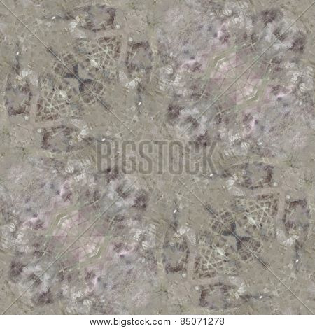 art nouveau ornamental vintage  pattern, S.7, monochrome watercolor background in pastel beige grey, lilac and green colors